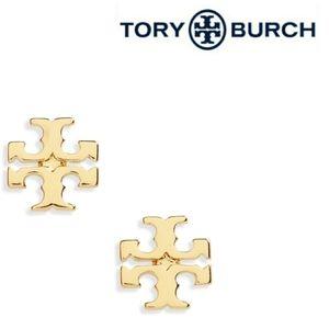 Tory Burch ■ Gold Logo Stud Earrings